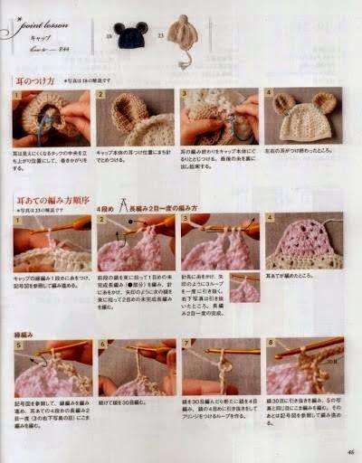 Croche pro Bebe: Gorro e cachecol em croche