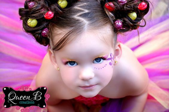 cute hair for a candyland party!