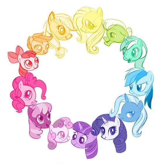 My Little Pony color wheel.