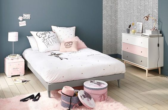 Id e d co chambre fille blog deco pinterest for Chambre 0 decibel