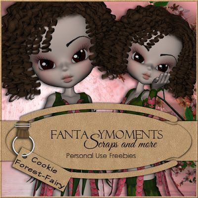 Poser Tubes Freebie | Poser Tubes Cookie Forest Fairy