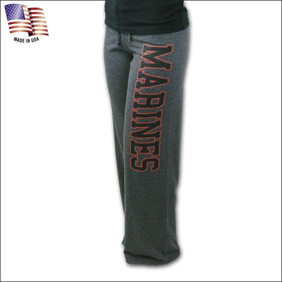 U-Trau Marines Womens Pilates Pants(Graphite)