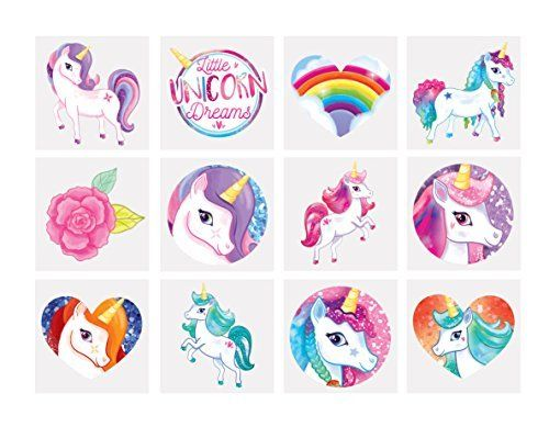 EARRING STICKERS Girls Birthday Party Gift Bag Filler Frozen Pony Princess Kids