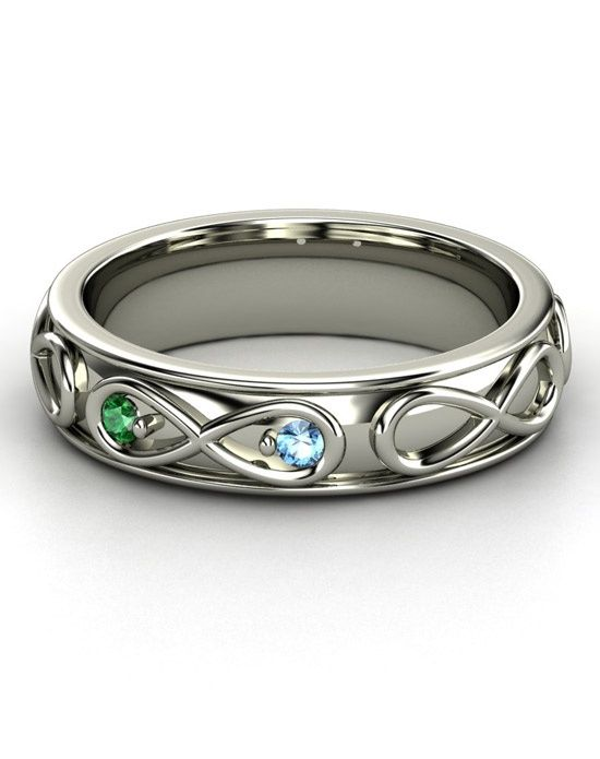Infinity Love ring with birthstones