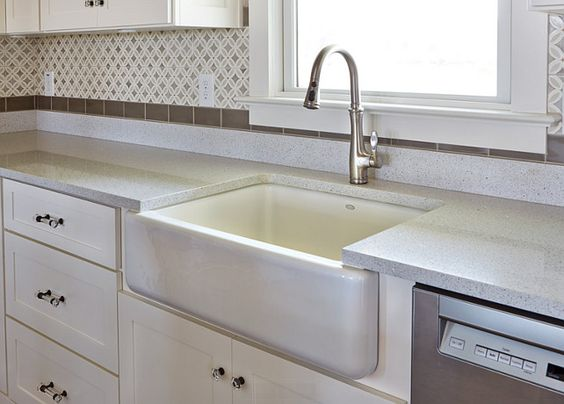 Home beautiful and faucets on pinterest for Silestone kitchen sinks