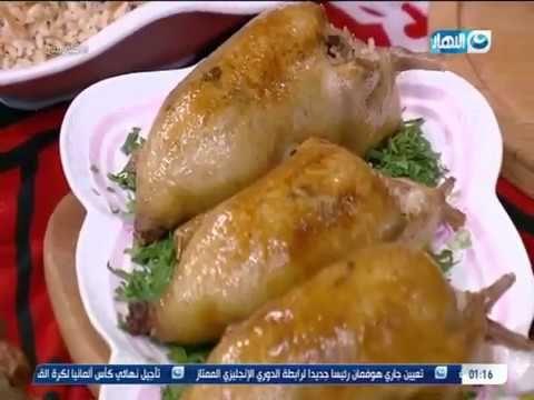 أكلة بيتي أحلى طريقة لعمل الحمام المحشي بالكبد والقوانص على طريق الشيف Food Meat Chicken