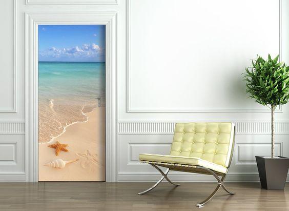 Türtapete selbstklebend Türposter - SEESTERN - Fototapete Türfolie Meer