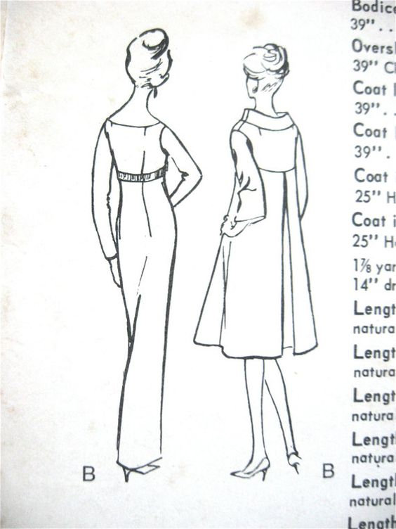 Vintage 1960s Vogue Special Design Sewing Pattern by Fancywork