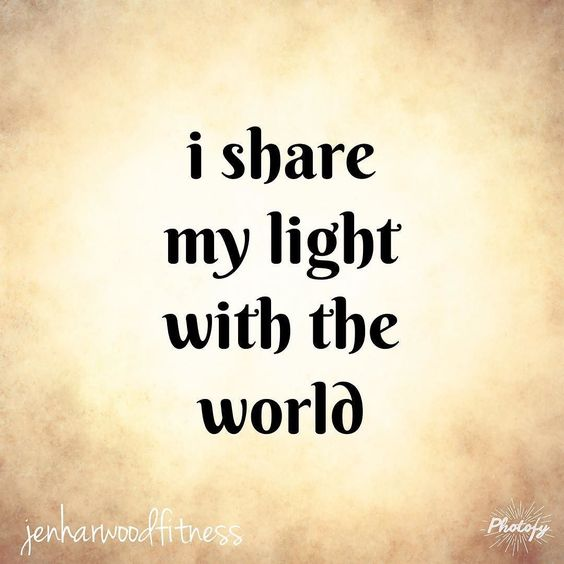 As you may have guessed I try to be a really positive person!  For my own sanity as well as for the fulfillment o get for helping others find similar mindsets.  Share YOUR light today!  Throw a positive word or emoticon below!  by jenharwoodfitness