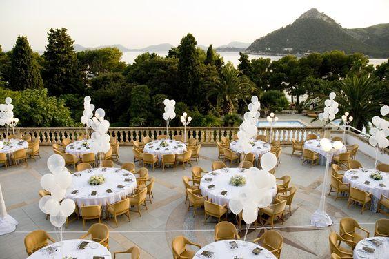 Wedding overlooking