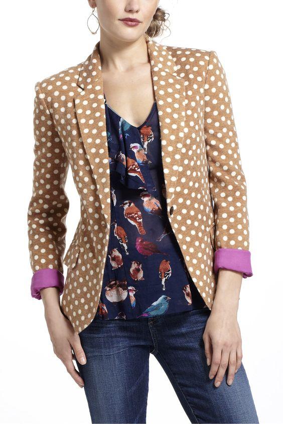 dotty knit blazer ++ cartonnier