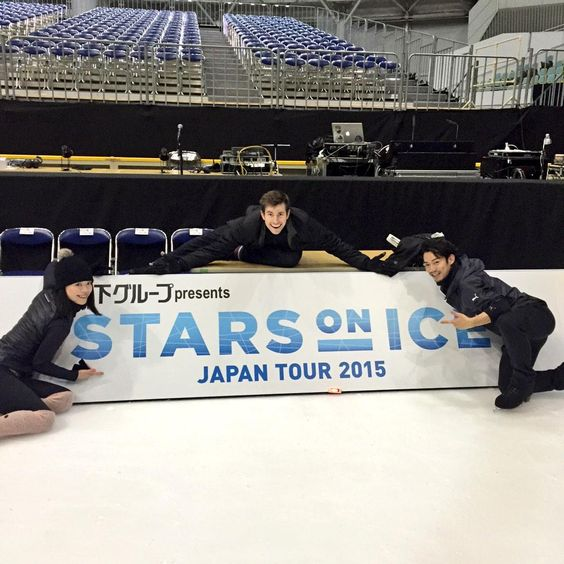 With Akiko Suzuki(JAPAN) and Jeffrey Battle(USA) : Stars on Ice Japan tour 2015