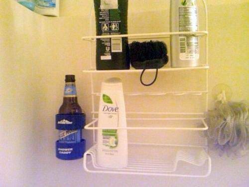 Redneck shower caddy! http://www.boomerbrief.com/daily-distraction.html