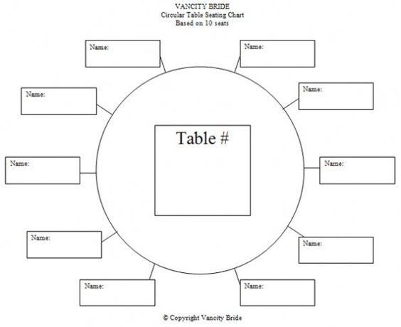 Free Individual Table Seating Charts Wedding Ideas – Sample Wedding Seating Chart