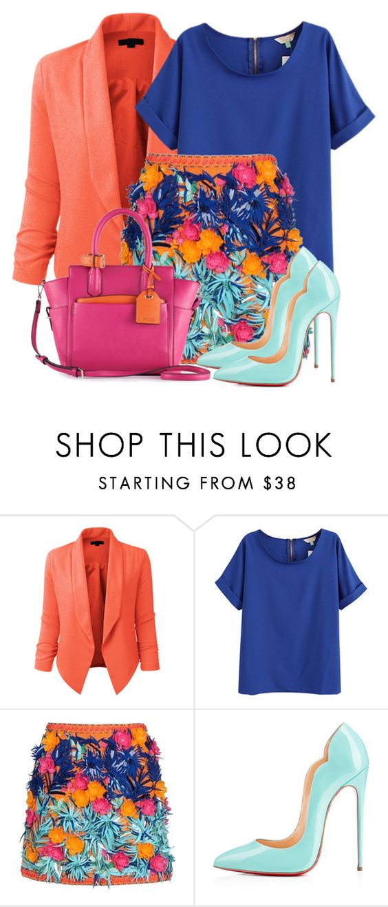 """""""Untitled #120"""" by alexandralaura ❤ liked on Polyvore featuring LE3NO, MSGM and Christian Louboutin"""