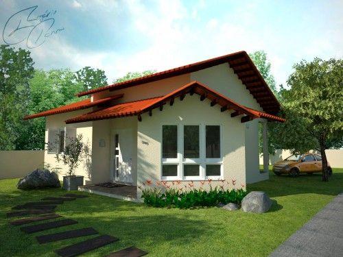27 modelos de frentes de casas simples e modernas simple for Modelos de casas para construir