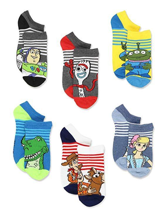 3 x Grey//Blue Ankle Socks For Boys TOY STORY DISNEY