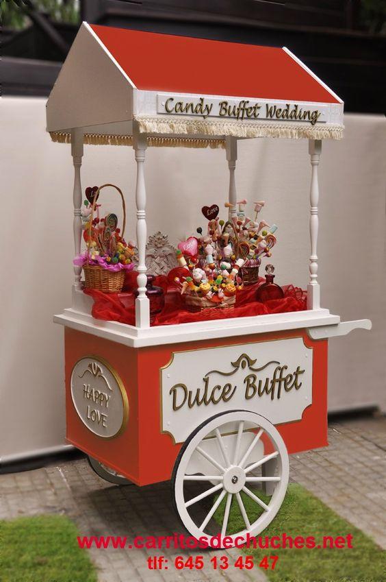 Precioso carrito de caramelos para fiestas cumplea os - Carro de chuches para cumpleanos ...
