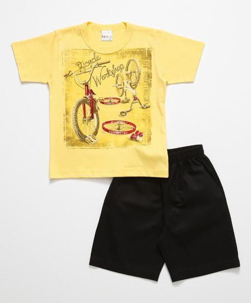 Conjunto Baby de 2 pçs Amarelo e Preto