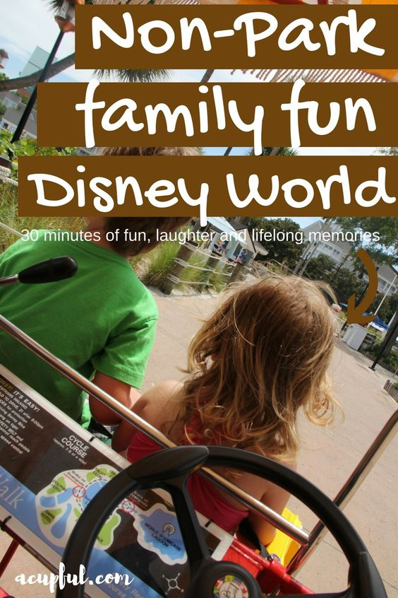 There is more to do at WDW than the theme parks. Surrey bike rentals was the highlight of our recent trip. Perfect for young kids, teens and adults!    Walt Disney World | WDW trip | Cheap Disney Vacation | Family Vacation