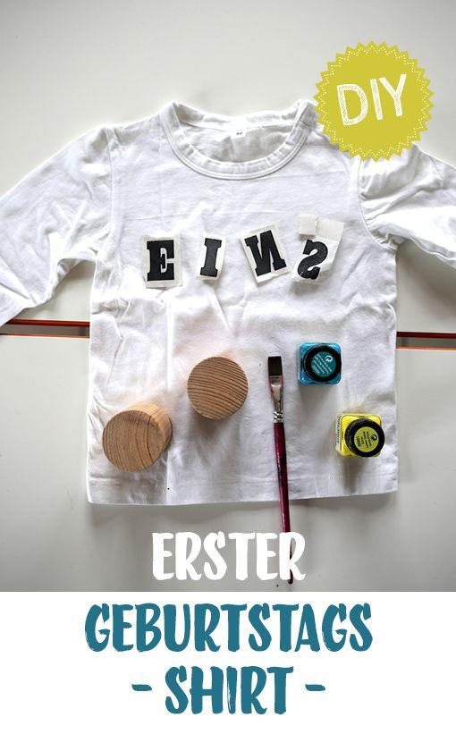 Shirt bedrucken zum ersten Geburtstag // DIY-Shirt // Print // Ein Stück vom Glück