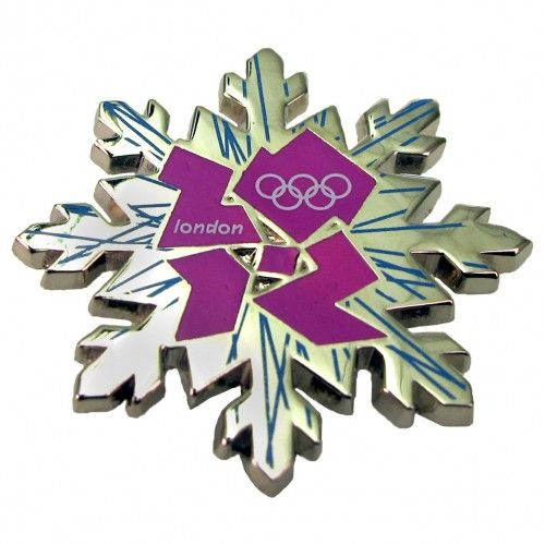 $9.99 2012 Olympics Snowflake London Logo Pin. The 2012 Olympics Snowflake London Logo Pin is a beautiful piece of cloisonne art. It's the perfect way to show your support of the Olympic players throughout the Holidays. The 2012 Olympics Snowflake London Logo Pin features the Official London 2012 logo. http://www.nbcuniversalstore.com/2012-olympics-snowflake-london-logo-pin/detail.php?p=365334=olympics_pins=all. Definitely one of my Fabs