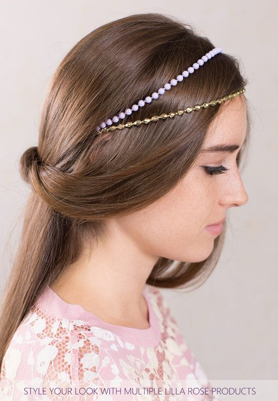 Easy Hairstyles Don T Have To Be Boring Use Multiple Beaded Headbands To Create Beautiful Ne Short Hair Styles Easy Headband Hairstyles Curly Hair Accessories
