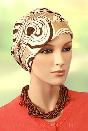 $19.50 - Abstract Circles Shirred Cap      #cancer #chemo #alopecia #hair loss