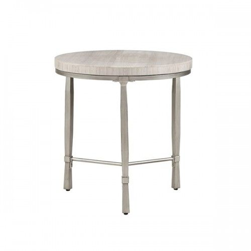 Silver Round Metal Cream Marble Top Accent Table Marble Top Accent Table Marble Tables Design Marble Table