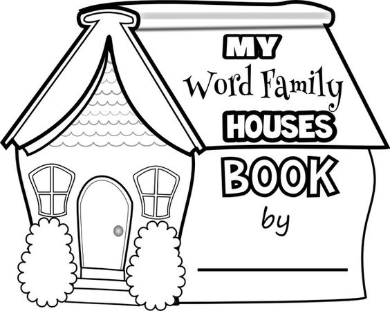 Phonics Worksheets Word Family Houses Word Family Worksheets Family Worksheet Word Families Lesson