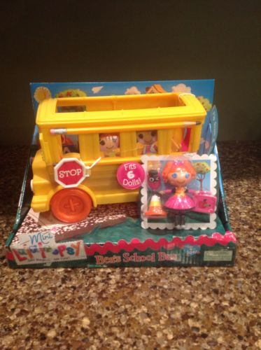 Mini-Lalaloopsy-Beas-School-Bus-Doll-Pet-NEW