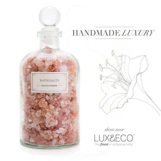 Handmade luxury in a GORGEOUS bottle! Treat yourself to a warm therapeutic bath this weekend! http://ow.ly/zlwzL #luxandeco