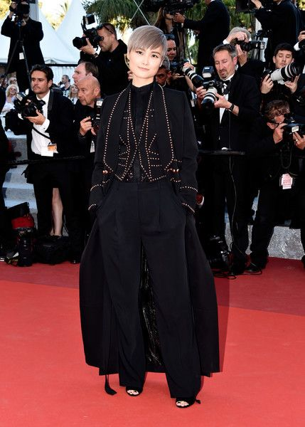 "elizabethsrealwardrobe: ""Li Yuchun at the premiere of From The Land and the Moon at the Cannes Film Festival """