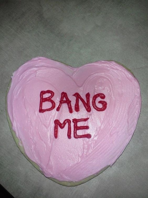 This very candid and (let's be honest) accurate heart. | 19 Valentine's Day Cakes That Get Straight To The Point