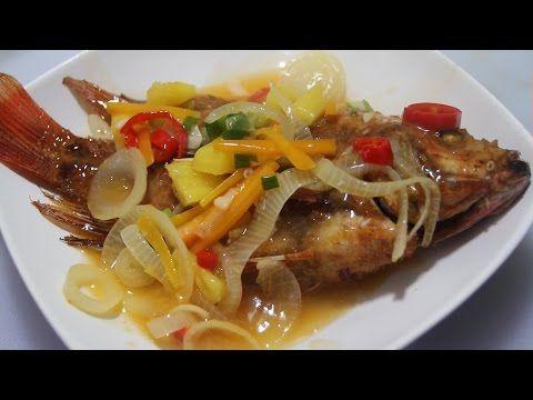 Resep Ikan Crispy Asam Manis Youtube Makanan Resep Ikan Makanan Ikan