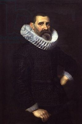 Nicolaes Eliasz. Pickenoy, Portrait of a gentleman in a black tunic and ruff - Johnny van Haeften Gallery, London