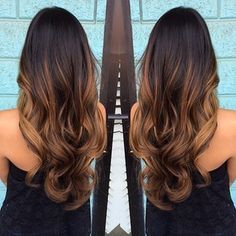 Love the ombré balayage but would probably get a little darker and have some highlights up top too