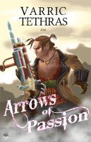Varric- Arrows of Passion by Radiant-Grey on deviantART - links to page showing various faux romance novel covers by various artists
