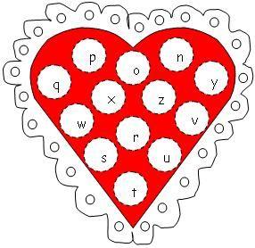 valentine's day dauber art