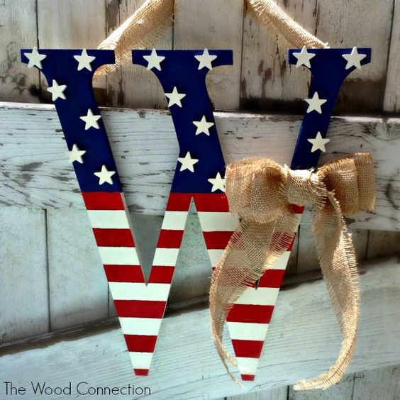 Happy Tuesday Everyone, In lieu of Independence Day next week I thought I'd make a patriotic door hang for all of you! It turned out so cute, especially with the bow, don't you think? To get started you'll need to pick up: -monogram -mini stars (I ended up using 16 but every letter is going...Read More »: