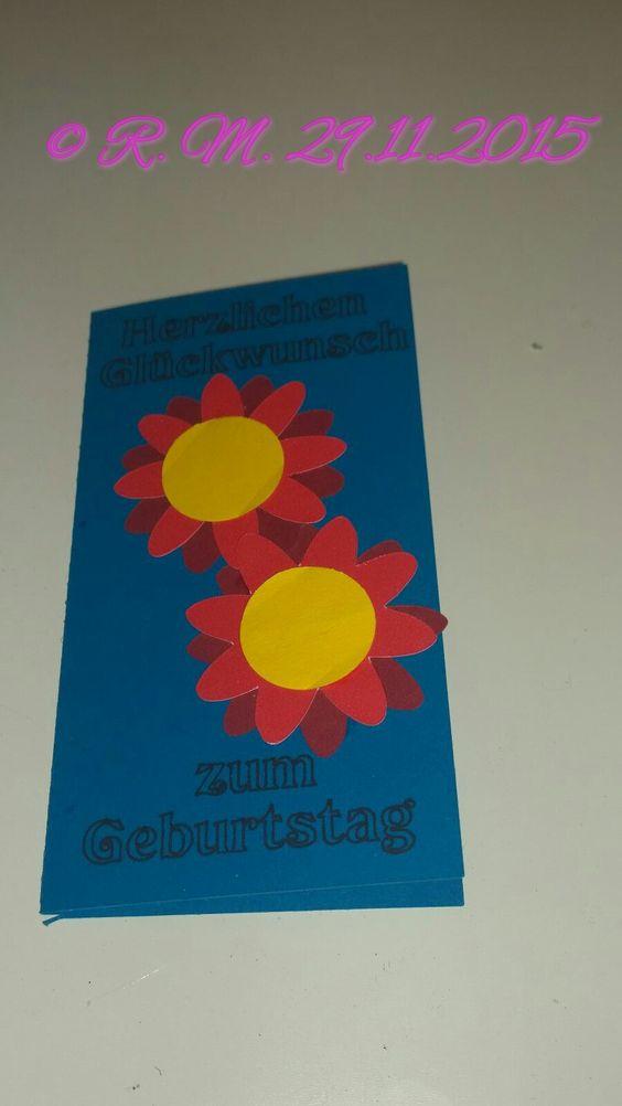 Blumen Karte / Flower card.