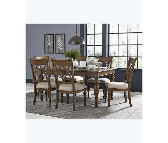 Dining sets side chairs and chairs on pinterest for Oak harbor furniture