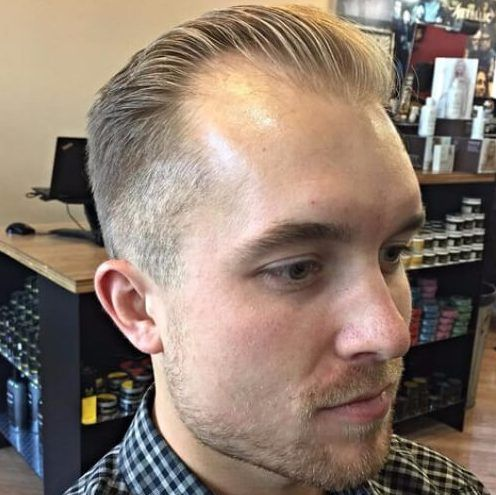 Pin By Sue Schultz On Behind My Chair Mens Hairstyles Hairstyles For Thin Hair Thin Hair Men