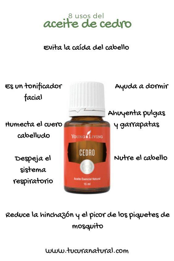 usos del aceite de cedro