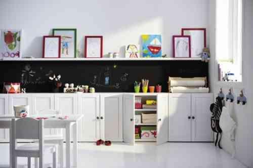 salle de jeux enfant : idée de meubles de rangement
