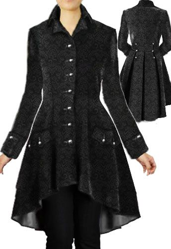 Victorian  Velvet Jacquard Coat By Amber Middaugh Save 37%  at Chicstar.com  Coupon code: AMBER37