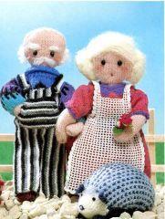 Grand-père et Grand-mère poupées au tricot : Momobricole
