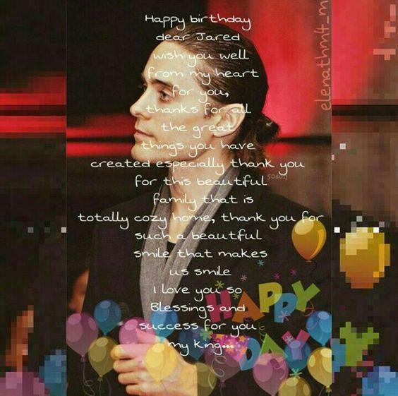 #HappyBirthdayJaredLeto @jaredleto Te quiero Mucho Gracias por todo Jared I Love You So Much ❌⭕❌⭕