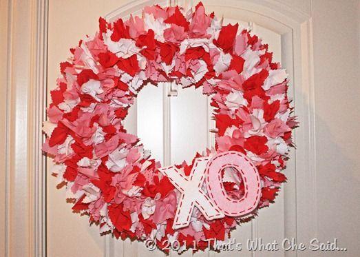 DIY - Fabric Valentine's Day Wreath