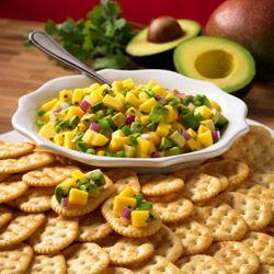 Town House(R) Crackers with Avocado and Mango Salsa Allrecipes.com